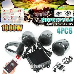 1000W 4 Speaker Amplifier bluetooth Motorcycle Stereo Audio Amp System MP3