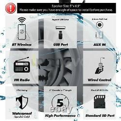 1000W Bluetooth Waterproof UTV RZR Polaris CanAM Stereo Speaker Audio Amp System