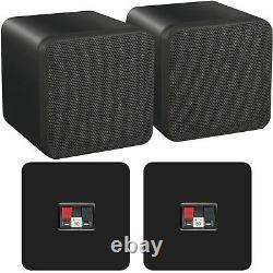 110W Bluetooth Amplifier & 80W Bookshelf Speaker Kit Compact Wireless HiFi Amp