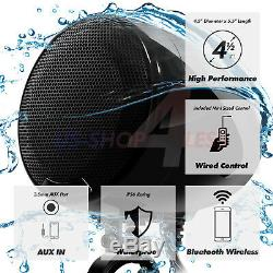 1200W AMP Bluetooth Waterproof Motorcycle Stereo 4 Speaker Audio MP3 System AUX