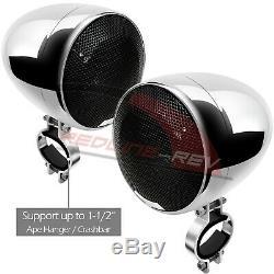 1200W Amp Waterproof Bluetooth 4 Speaker Stereo Audio System Harley Custom Glide