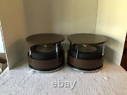 2 VTG MCM ZENITH CIRCLE of SOUND STEREO OMNI-DIRECTIONAL SPEAKERS RETRO WORKING