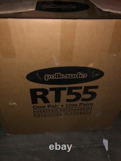2 Vintage Polk Audio Rt55 Bookshelf Loudspeakers 200 watts stereo speakers Black