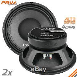 2x PRV Audio 10W650A-4 Mid Range ALTO Car Stereo 10 Speaker 4 ohm 10A PRO 1300W