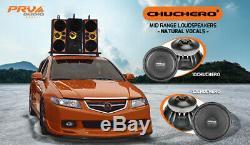 2x PRV Audio 12CHUCHERO Mid Range Car Stereo 10 Speaker 8 ohm PRO 1400W