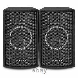 2x Vonyx SL6 6 DJ Speakers Amplifier Home Stereo Sound System 250W UK Stock