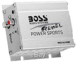 4 Speaker Motorcycle Stereo Speaker Audio System Bluetooth Amplifier WATERPROOF