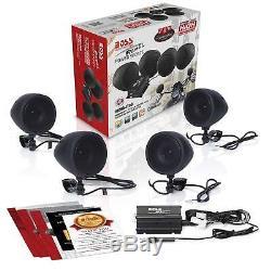 4 Speakers Motorcycle Stereo Speaker Audio System Bluetooth Amplifier WATERPROOF