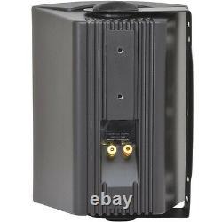 4x 4 2 Way Stereo Speakers 70W 8Ohm Black Wall Mounted Background Music Hi-Fi