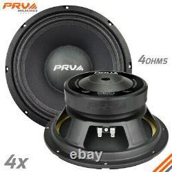 4x PRV Audio 10MB400-4 Mid Bass Car Stereo 10 Speaker 4 Ohm 10MB PRO 1600 Watts