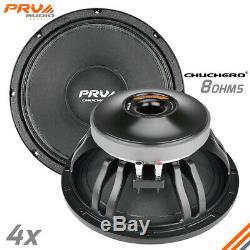 4x PRV Audio 12CHUCHERO Mid Range Car Stereo 12 Speaker 8 ohm PRO 2800W