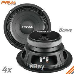 4x PRV Audio 8MB450 v2 Mid Bass Car Stereo 8 Speaker 8 ohm 8MB PRO 1800 Watts