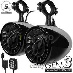 600W Bluetooth Waterproof ATV UTV RZR Polaris Stereo Speakers Audio Amp System