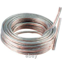 7.5M Heavy Duty Loud Speaker Cable Wire Car Audio Home Stereo PA System 18 AWG