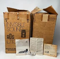 ADS L710 Vintage Stereo Speakers Great Sound With Original Boxes