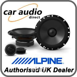 ALPINE S-S65C 16.5cm 6.5 240W 2-Way Component Radio Stereo Audio Speakers Door