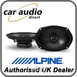 ALPINE S-S69 6 x 9 16 x 24cm 260W 2-Way Coaxial Stereo Audio Speakers Shelf