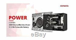Aiwa 9002 Exos Portable Bluetooth Speaker Dual Voice Coil Subwoofer Stereo Sound