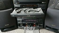 Aiwa Stereo Hifi Seperates Sound System RARE ZM2600 CD Cassette Tuner Speakers
