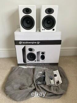 Audioengine Audio Engine A5 + plus Stereo Speakers White ONLY 2 months old