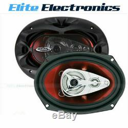 BOSS CH6940 6x9 CHAOS 500W 4-WAY COAXIAL REAR STEREO SPEAKERS PAIR CAR AUDIO