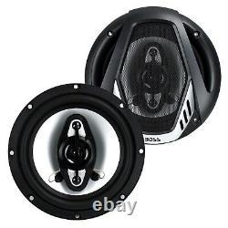 BOSS NX654 6.5 400W 4-Way Car Audio Coaxial Speakers Stereo, Black (8 Speakers)