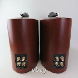 B&W 805s stereo speakers in cherrywood boxed with packaging ideal audio