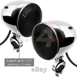 Bluetooth Amplifier Stereo Audio FM Radio System Motorcycle Waterproof 4 Speaker