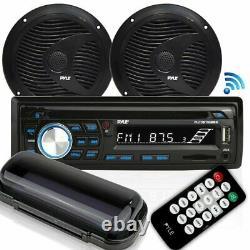 Bluetooth Waterproof Marine Speaker Audio Stereo Kit Pontoon Boat Sound System