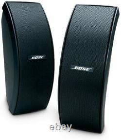 Bose 151 Outdoor External Speakers Full Stereo Music Sound Black NEW
