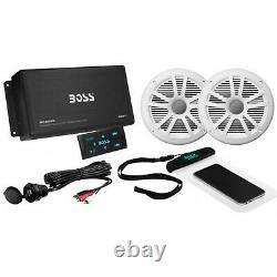 Boss Audio BOSS-ASK902B. 6 Bluetooth Amplifier Marine Stereo with1 Pair Speakers