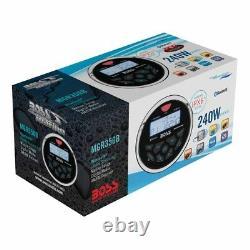 Boss Audio MGR350B 3 Gauge Hole Marine Bluetooth MP3 Stereo Radio Boat Receiver