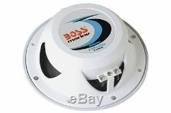 Boss Audio Mr60w 6.5 White Pair 2-way 200w Marine Boat Outdoor Stereo Speakers