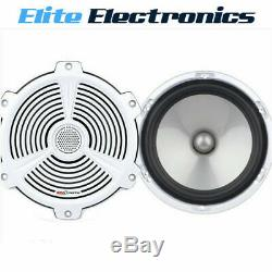Boss Audio Mr652c 6.5 White Pair 2-way 350w Marine Boat Outdoor Stereo Speakers