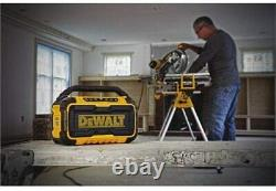 DeWALT Corded Cordless Dual Speakers 100 Ft Bluetooth Stereo Sound 20V Handle