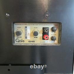 Gale GS401 stereo speakers with matching stands ideal audio