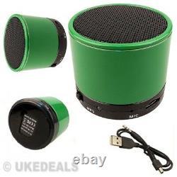 Green Speaker For Pc Ipad Mp3 Mp4 Wireless Bluetooth Mini Portable Audio Stereo