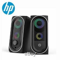 HP Wired Speaker SoundBar LED Light Stereo Bass Subwoofer Audio AUX Speaker Surr