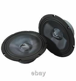Harmony Audio HA-CMB8 Car Stereo Cabron Midbass Midrange 8 Speakers 4 Pairs