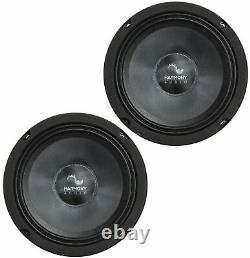 Harmony Audio HC-CMB65 Car Stereo Cabron Midbass Midrange 6.5 Speakers 3 Pair