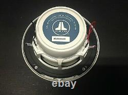 JL Audio Marine Boat Stereo 6.5 Coaxial Speakers 6 1/2 White Classic Grille Pr