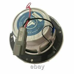 JL Audio Marine Boat Stereo 6.5 Coaxial Speakers 6 1/2 White Sport Grille Pr