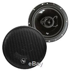 JVC CD AUX Radio, Audio Pipe 6X8 and 6.5 Car Stereo Speakers, 50 Foot Wire