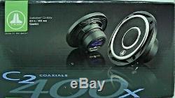 Jl Audio C2-400x 4 100w 2 Way Full Range Car Stereo Speakers Set New