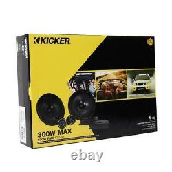 Kicker 46CSS654 300 W Max 6.5 4-Ohms Stereo Car Audio Component Speaker System