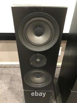 Linn Audio Keilidh Speakers Floor Standing Black Ku Stone Base Fully Working