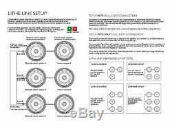 Lithe Audio 6.5 Bluetooth Ceiling Speaker Pair of Speakers (Master & Slave)