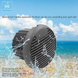 Marine DAB Radio Receiver Boat Bluetooth Sterteo Audio + 3'' Speakers + Areial