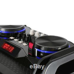 Mega Sound Bluetooth Party Speaker with USB and Lights Home Hi-Fi Stereo System