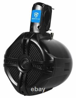 Memphis Audio Hidden Hide Away Marine Bluetooth Receiver+6.5 Wakeboard Speakers